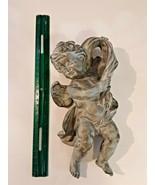 "Winged Angel Cherub Wall Plaque Eros Cupid Antique Finish 10"" resin - $24.70"