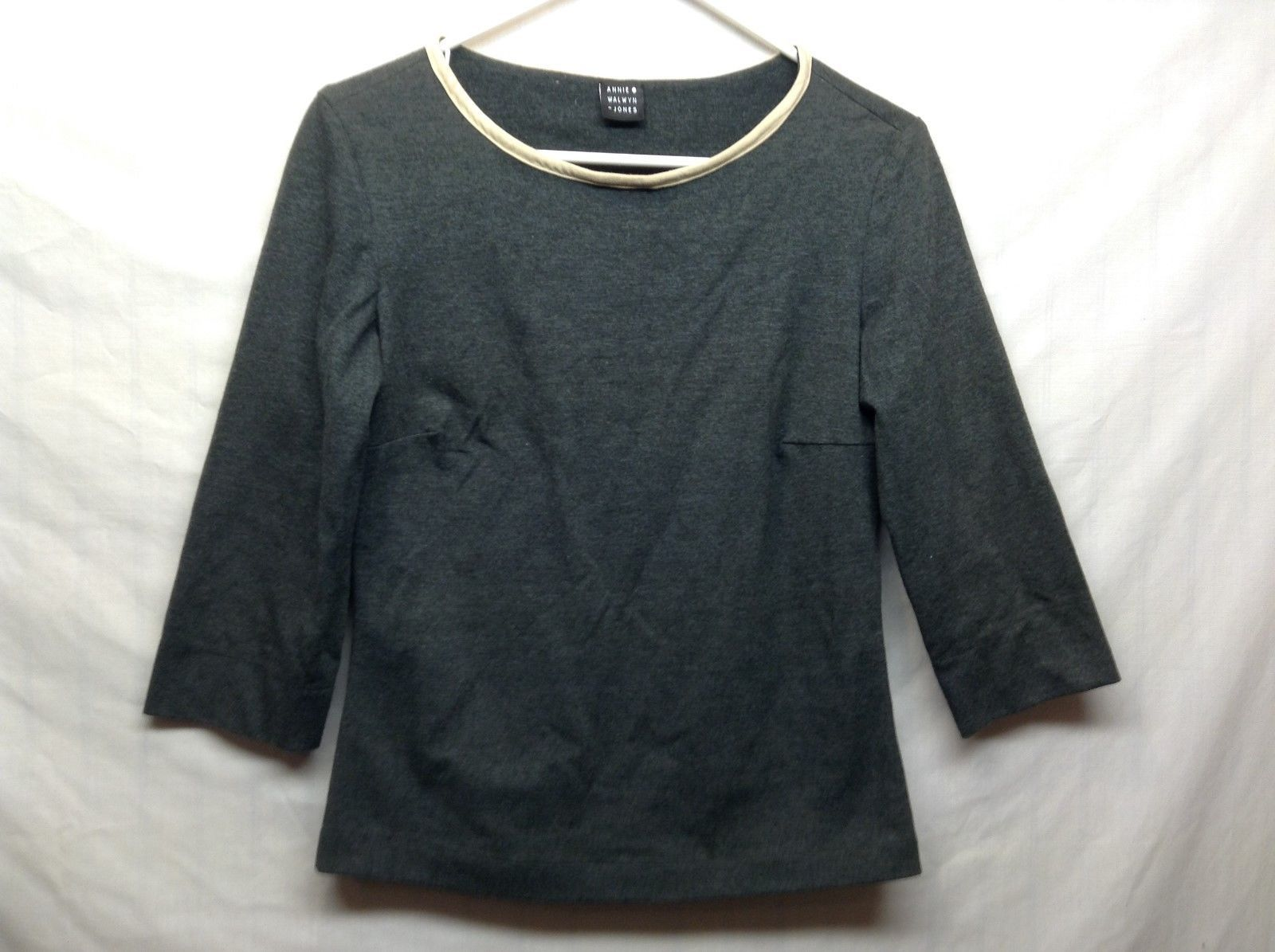 Annie Walwyn Jones 3/4 Sleeve Pullover Shirt Sz S