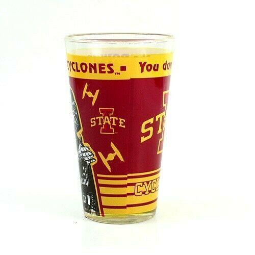 NCAA Iowa State Cyclones 16 oz. Star Wars Pint Glass Big 12 Glassware - $15.79