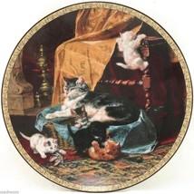 Little Athletes Feline Fancy 1993 Victorian Cat Kitten Ronner Bradford P... - $32.95