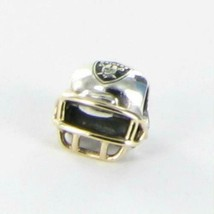 Pandora NFL Raiders Football Helmet Charm USB790570-G123 14k Gold Sterli... - $213.40