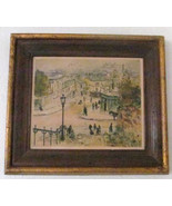 1920's Eugene Veder Hand Signed Antique Colored Etching Parisian Street ... - $299.99