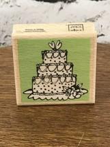 Vap Scrap Rubber Stamp 2'x2' Wedding Cake - $5.93