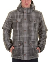 Vans Men's Mixter II Hooded Jacket Coat Gray/White PLAID PARKA REMOVABLE... - $121.08