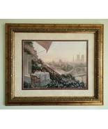 Christa Kieffer Dinner for Two Paris City Terrace Landscape Framed Art P... - $44.99
