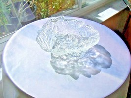 Indiana Glass Vintage Loganberry Pattern Clear Candy Dish c1950's - $18.80