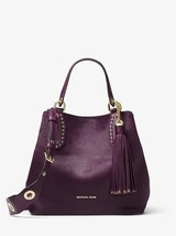 Michael Kors Brooklyn Damson Medium Calf Hair Magnetic Snap Fastening Tote  - $719.99