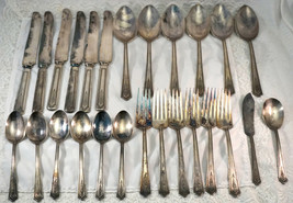 Stratford Plate Sectional Silverplate 1927 Carmen Service for 6 - 26 Pieces - $62.50