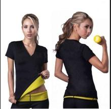 Women Sports Yoga Hot Neoprene Body Shaper Slimming Training Corsets Gym T-shirt
