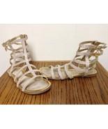 STUART WEITZMAN Gold Leather Gladiator Caged Sandals Size 5 Gorgeous Exc... - $29.95