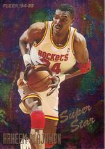 1994-1995 Fleer Hakeem Olajuwon Super Star Basketball Trading Card #3 of 6 - $3.95
