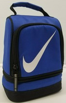 MI) Nike Insulated Lunch Bag Tote Thermal Cooler Bag Blue Black Container - $11.87