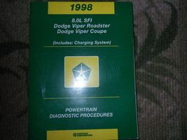 1998 Dodge VIPER COUPE & ROADSTER Powertrain Diagnostics Procedures Manu... - $9.85