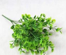 Mega Shop Artificial Plants Water Grass Eucalyptus 7 Fork Green Grass Pl... - $8.64