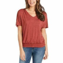 NEW!!! Jessica Simpson V-Neck Shirt Blouse Top, (Rustic Rose, Large) - $14.99