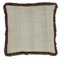 ABILENE STAR Fabric Euro Shams - Set of 2 - 26x26 - Burgundy/Tan/Brown - VHC