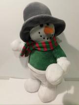 """Christmas Beverly Hills Teddy Bear Co Snowman Plush 14"""" - $8.90"""