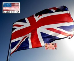Reino Unido Gb Gran Bretaña Británico Super-Poly en / Exterior Banderas - $13.89