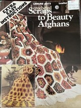 Leisure Arts Crocheted Scraps to Beauty Afghans  Leaflet #163  1980 - $6.90