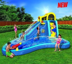Kids Inflatable Water Park Slide Outdoor Play Center Bouncer Pool Spraye... - $689.89