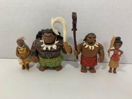 Disney Moana Adventure Pack action figure play set Maui Gramma Tala Chie... - $14.84