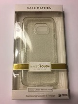 Case Mate Naked Tough 2 Layer Case for Samsung Galaxy S7 Edge, SHEER GLAM - $19.62