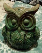Porcelain green owl- 5 x8 x 10 - $18.70