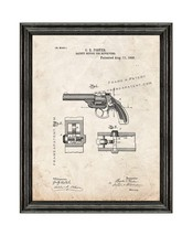 Safety Device For Revolvers Patent Print Old Look with Black Wood Frame - $24.95+