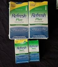 LOT of Refresh Plus Eye Drops 140 Vials+Refresh Tears Eye Drops 3 x 15ml... - $60.39