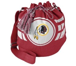 Washington Redskins Tailgate Ripple Drawstrings Bucket Bag Purse NFL - $19.79