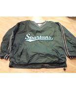 Men's Michigan State Spartans L Jacket Pullover Windbreaker Steve & Barrys - $23.36