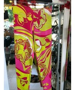 EMILIO PUCCI Pink/Multi-Color Print Leggings/Stretch Pants Sz 42 or US 6... - $216.71