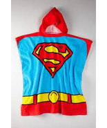 DC Comics Kids Superman Logo Superhero Hooded Bath Beach Towel - $19.99