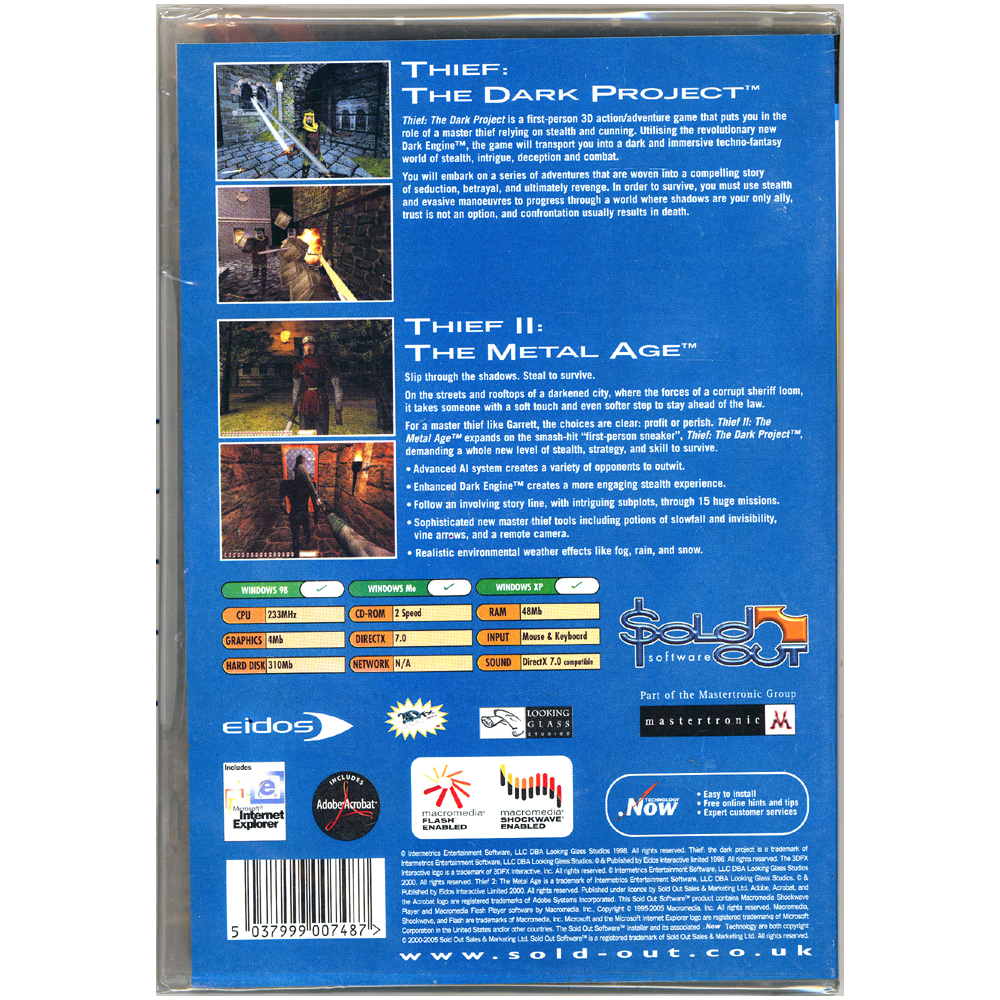 Thief: The Dark Project & Thief II: The Metal Age [PC Game]