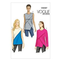 Vogue Patterns V9087A50 Misses' Top Sewing Template, Size A5 (6-8-10-12-14) - $10.00