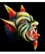 Vintage large devil head - Bizarre demon mask prop - folk art - ceremoni... - $295.00