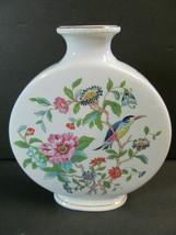 Aynsley Pembroke Pattern Bone China Large Vase Made England Bird Gold Trim - $44.55