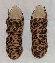 Bella Marie Vermont 61 Leopard Suede Double Buckle Plus Zipper Size 6 image 2