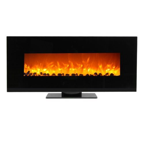 """WOLFIRE® 50"""" Wall Mount Fireplace Standing Electric Adjustable Heater w/Tempered"""