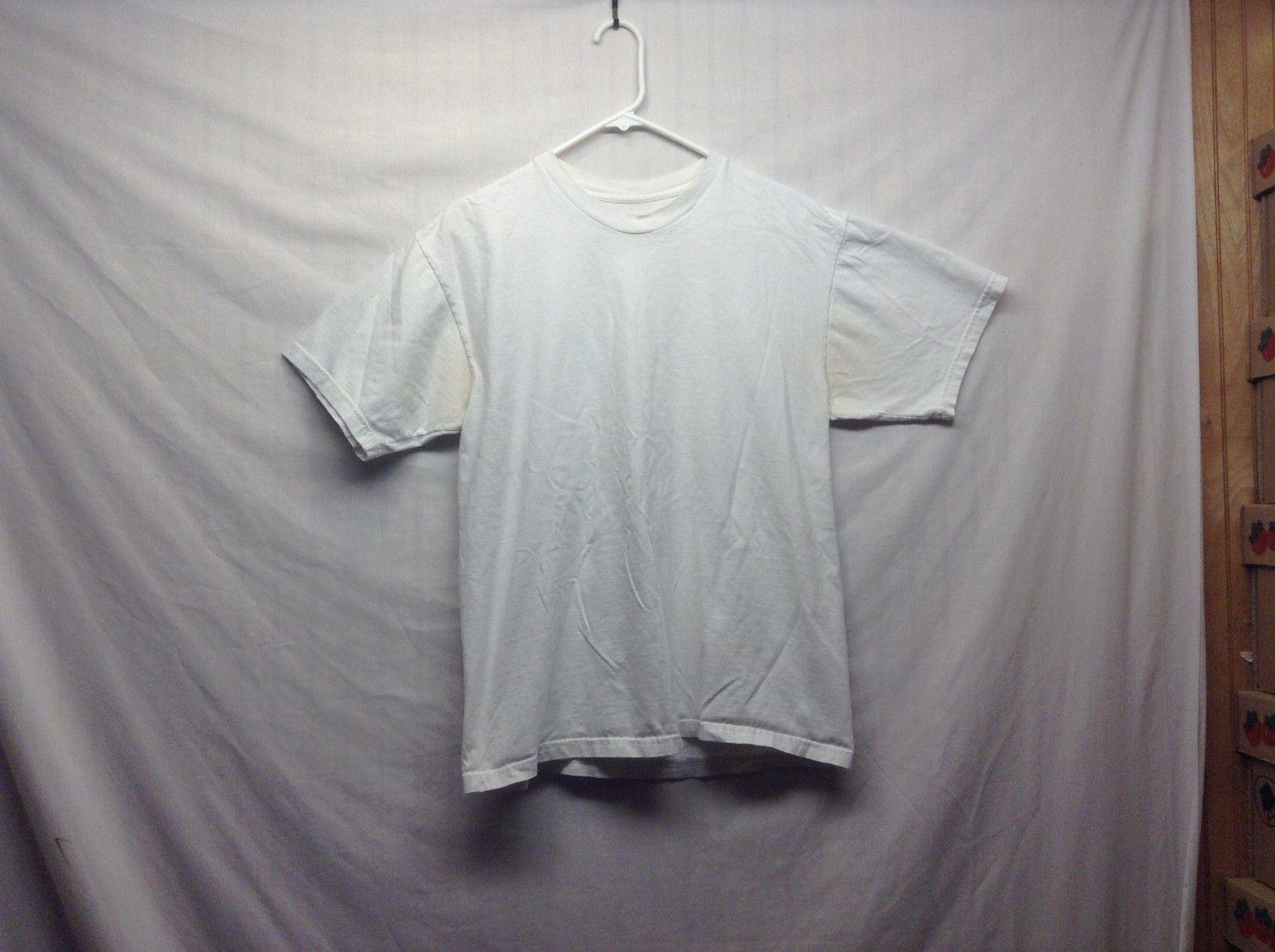 Kirkland Signature White Cotton T Shirt Sz LG