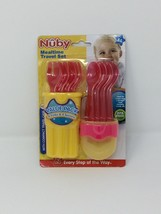 Nuby 9-Piece Fork and Spoon Travel Set Compact Case - Red/Yellow - $9.50