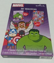 Marvel Avengers Valentines Day Cards by Hallmark with Stickers and Teacher Card - $3.99