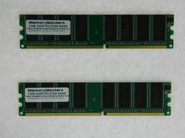 2GB (2X1GB) DDR MEMORY RAM PC2700 NON-ECC DIMM 184-PIN