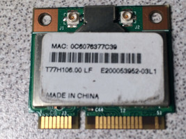 Acer Aspire One D250-1417 KAV60 Wi-Fi Wireless WLAN NIC Card T77H106.00 - $5.40