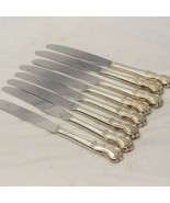 "Wm Rogers Magnolia Dinner Knives 9.125"" Lot of 8 - $25.43"