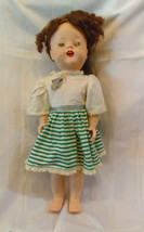 "c1950 Vintage Impco 22"" hard plastic jointed girl doll w/ mohair & voice... - $12.19"