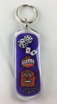 Belle Casino Keychain Key Chain Dice Slot Machine Cards Plastic  - $4.99