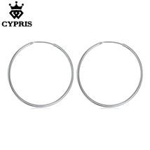 Lose Money Promotion Silver Big Huge Hoop Earrings 50mm Plated Earring J... - $7.99