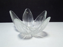 Rosenthal Crystal Flower Dish / Candle Holder ~~ germany label - $4.95