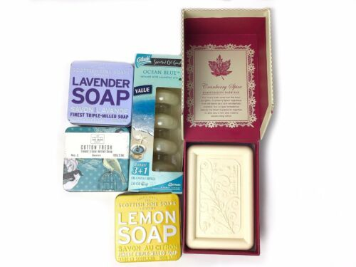 Lot Of New Scottish Fine Soaps Glade Ocean Blue Cranberry Spice Moisturizing Bar